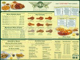 wing stop menu menu for wing stop west side las vegas