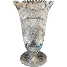 Ruby Vases Bohemian Lead Crystal Vase Dated At The Turn Of The 20th Century