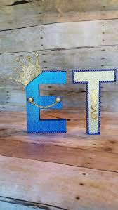 Blue And Gold Baby Shower Decorations by Royal Blue And Gold Mache Letters Prince Party Favor Crowntreat