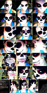 121 best half face sugar skull makeup images on pinterest