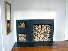 fireplace minimalist log holder in fireplace for living