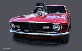 modified muscle cars 1970 mustang mach1 wallpaper red fastback 1680x1050 08
