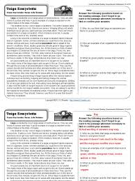 Flag Day Reading Comprehension Worksheets Gr4 Wk4 Taiga Ecosystems Trees Pine