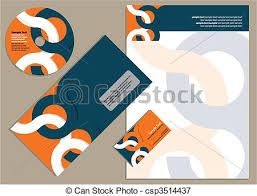 vectors illustration of letterhead template design corporate