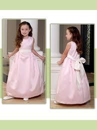 cute ball gown tea length flower dress with bow tie fl121