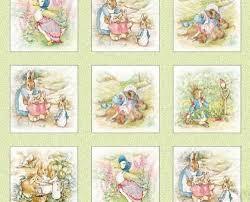 rabbit material beatrix potter fabric rabbit quilt blocks 4 beatrix