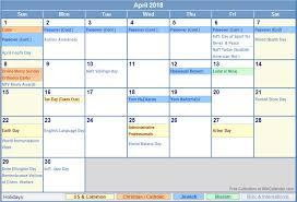 april 2018 calendar printable 8 free pdf word templates web e