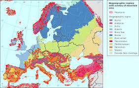 European Continent Map by Biogeographic Regions Of Europe Vivid Maps