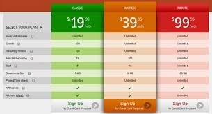invoicera pricing table pages template price tables pinterest