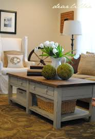 stained table top painted legs dear lillie coffee table step by step love the color and that it