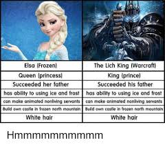 Elsa Frozen Meme - elsa frozen queen princess succeeded her father the lich king