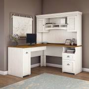 White L Shaped Desk With Hutch L Shaped Desks With Hutches