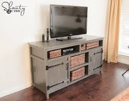 Diy Console Table Plans by Diy Media Console Free Plans Shanty 2 Chic