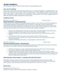 Real Estate Appraiser Resume 10 Best Images Of Real Estate Resume Sample Commercial Real