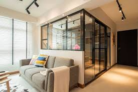 interior glass walls for homes home in singapore space savvy interior laced with industrial elements