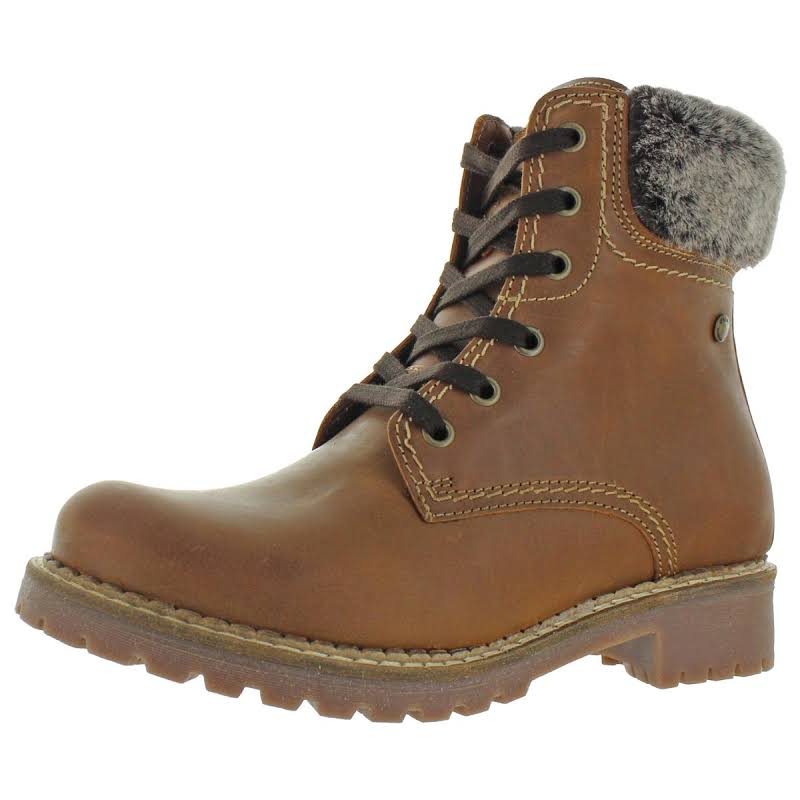 Pajar Panthil Leather Combat Winter Boots Brown 41 EU/10 US
