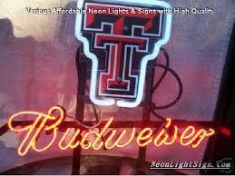 texas tech neon light ncaa texas tech budweiser beer bar neon light sign ncaa