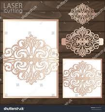 laser cut wedding invitation card template stock vector 725301061
