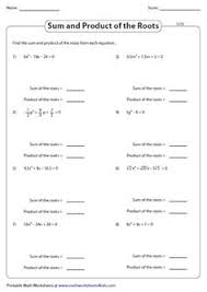 this assortment of 171 worksheets is based on quadratic equation