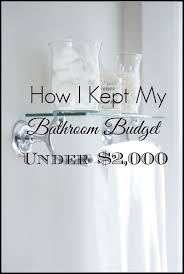 Small Bathroom Updates On A Budget Bathroom Remodel Under 10 000 Home With Keki
