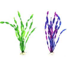 29 5cm artificial water plants plastic green purple grass plant