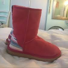 womens ugg boots zipper back 73 ugg shoes pink ugg boots with tribal pattern on back