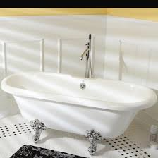 kingston brass vt7de672826c1 67 inch acrylic claw foot slipper tub