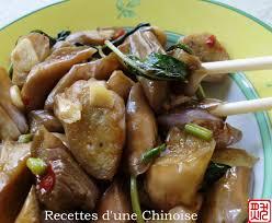 cuisine asiatique recette recettes d une chinoise aubergines sautées au basilic façon hakkas