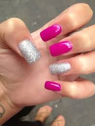 50 lovely pink and white nail art designs white glitter nails