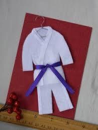 martial arts personalized ornament black uniform choose your