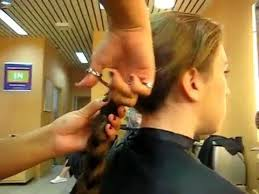 ponytail haircut technique big thick ponytail cut off youtube