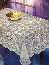 lace vinyl table covers nappe crochet lace look vinyl table cloth 60 x 104 amazon ca