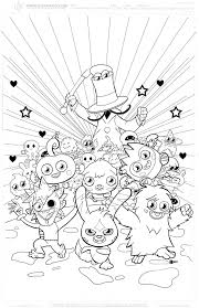 kids coloring in pages moshi monsters great for parties
