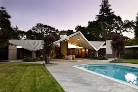 modern butterfly roof design exterior midcentury with mid century
