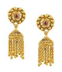 jhumki style earrings in gold jhumki style earrings online shopping antique gold south indian