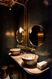 Copper Bathroom Faucet by Bathroom Dark Bathroom With Dark Green Also Dark Wall