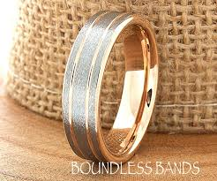 mens two tone gold wedding bands gold wedding band ring 6mm 18k two tone wedding band