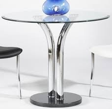 Florida Dining Room Furniture by 36 Inch Round Dining Table With Black Marble Base And Chrome Legs