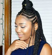 cornrows hairstyle with part in the middle fulani fun the style of the season why you should continue