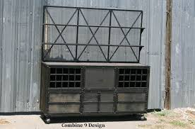 buy a handmade vintage industrial liquor cabinet with hutch