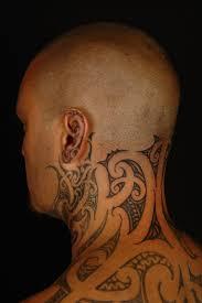maori polynesian tattoo tiki taane neck tattoo