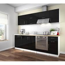 vente de cuisine arty cuisine complète 2m40 laqué noir haute brillance achat