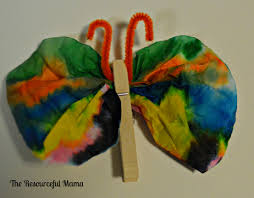coffee filter butterfly craft for kids the resourceful mama