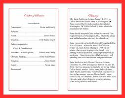 funeral programs sles lovely obituary layout templates pictures inspiration resume