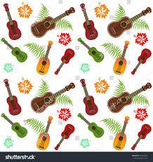 hawaiian textile design ukulele ornament stock vector 354515321