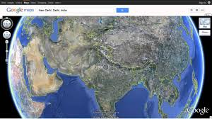 Earth World Map by India As Seen On Google Earth Using Google Maps Youtube