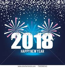 new year post card happy new year 2018 postcard stock vector 750590341