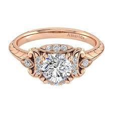 rings rose gold images Vintage 18k rose gold round halo diamond engagement ring rose jpg