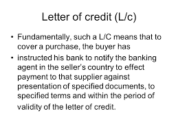 Letter Of Credit Validity shipping and incoterms ppt
