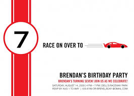 best photos of racing birthday party invitation cards templates